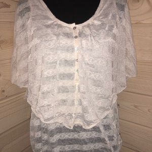 Free People Lace Layered Shirt